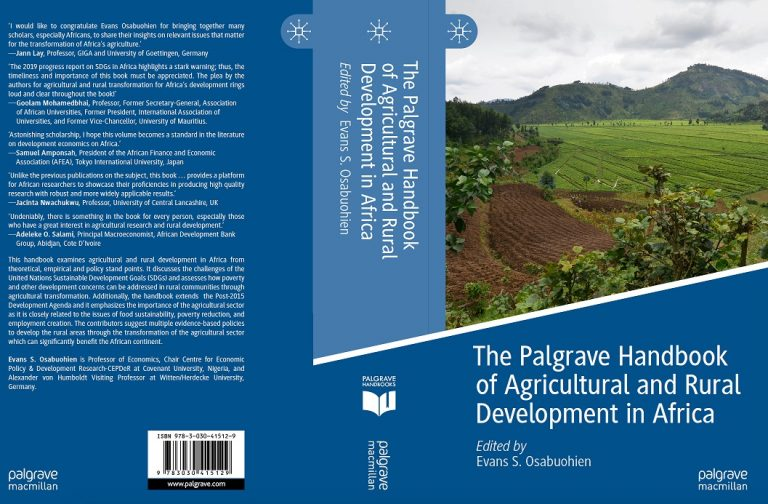 New Release: The Palgrave Handbook on Agricultural and Rural Development in Africa