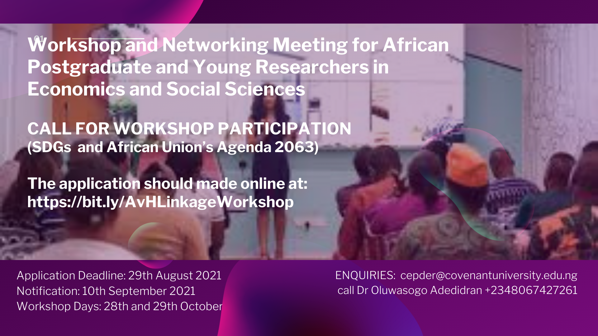 You are currently viewing Workshop and Networking Meeting for African Postgraduate and Young Researchers in Economics and Social Sciences
